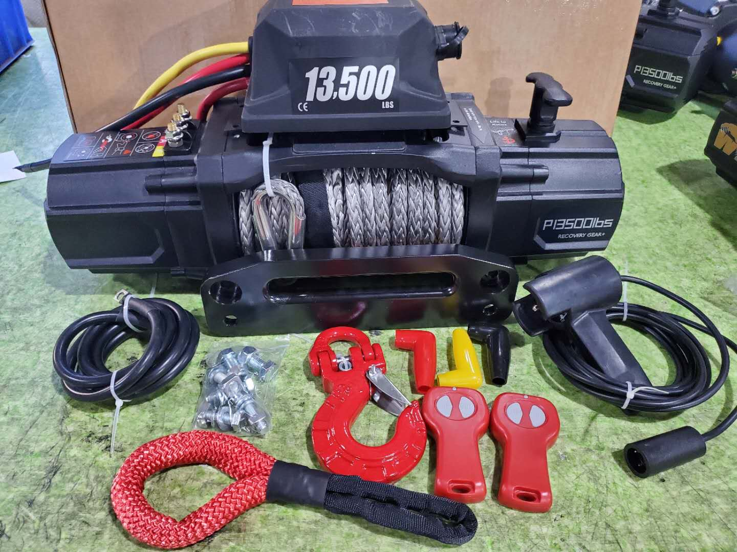 12000lbs 13500lbs synthetic rope winch ip68