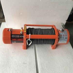 Electric Winch 13000lb in Orange