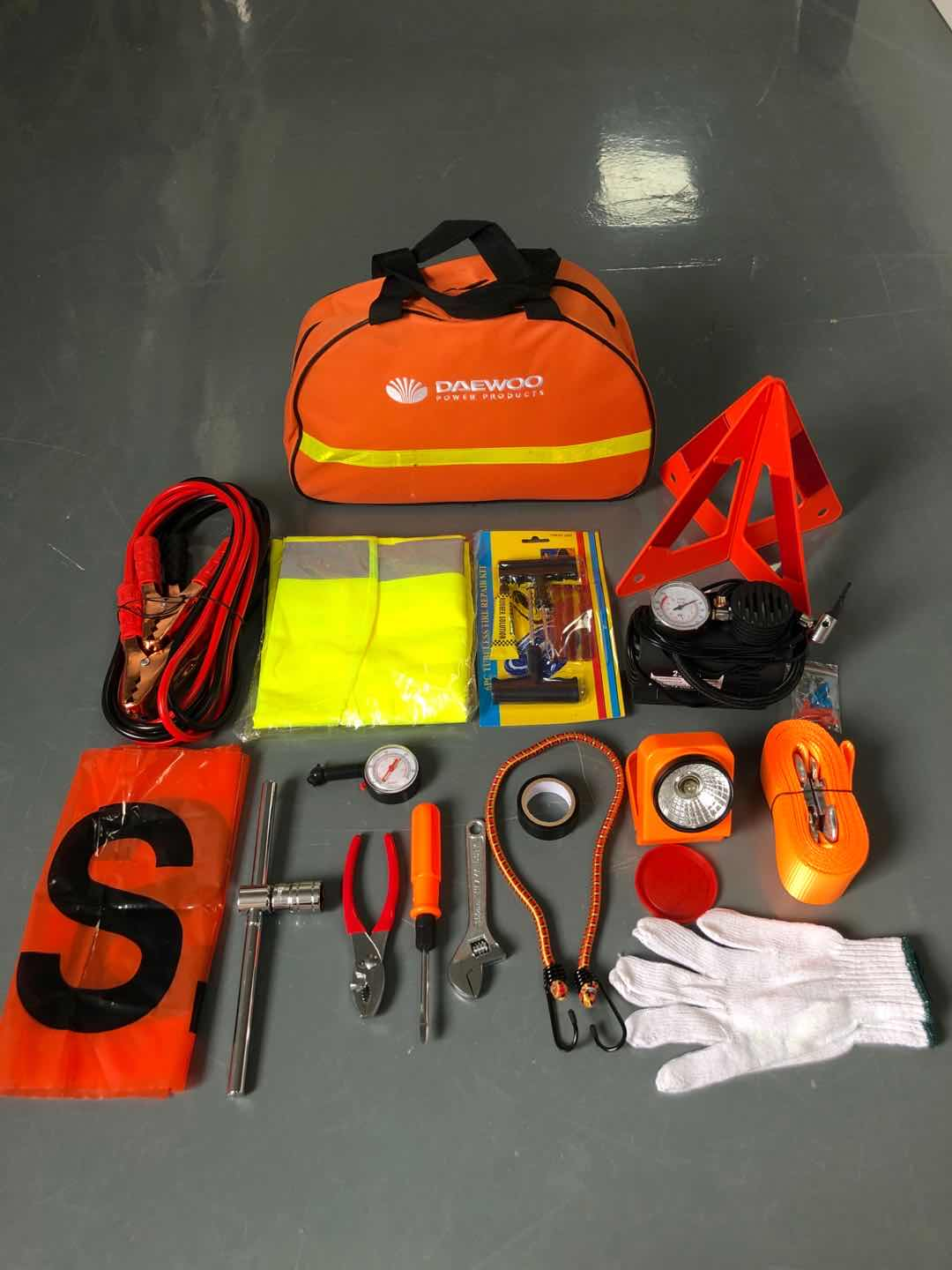 Roadside Car Emergency Kit With Air Compressor Featured Image