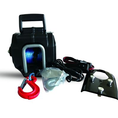 Portable Electric Boat Winch 5000lbs (Synthetic rope)
