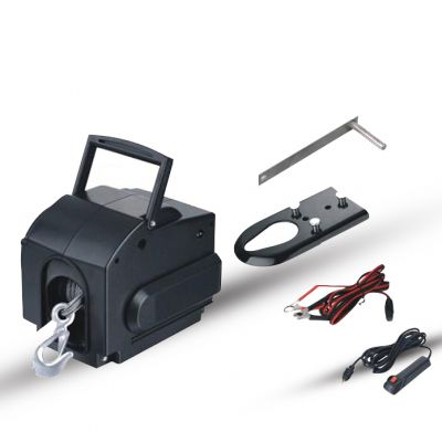Portable Boat Electric Winch 2000lbs